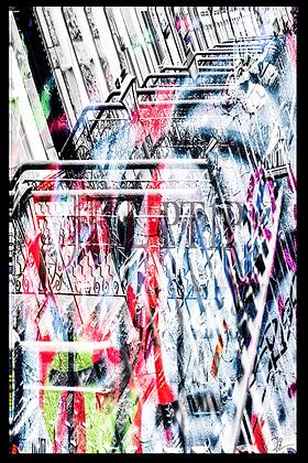 Portrait Wall Art - Graffiti City Inception I