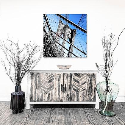 Square Wall Art - Brooklyn Bridge I