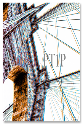 Portrait Wall Art - Brooklyn Bridge II - Knicks & Mets