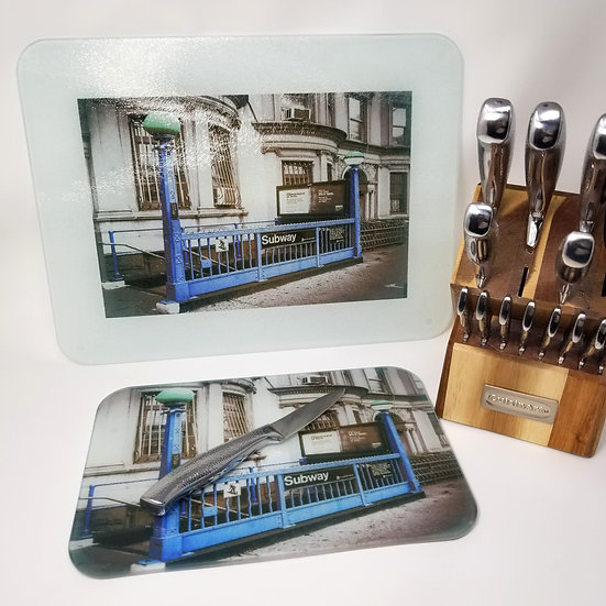 Glass Cutting Board/Serving Platters - Brooklyn Pillars