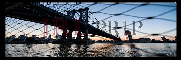 Panoramic Wall Art - Manhattan Bridge Sunset