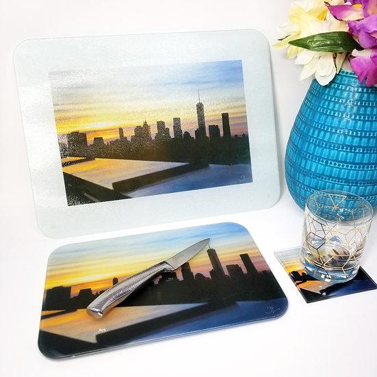 Kitchen/Dining Tabletop  Set - NYC Skyline I