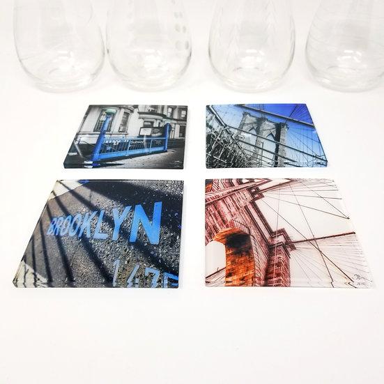 Custom Acrylic Coaster Set