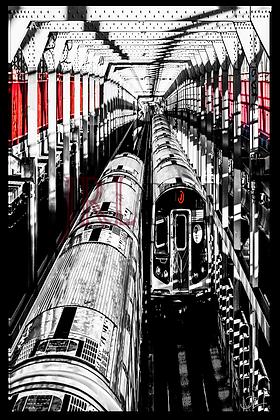 Portrait Wall Art - J Train