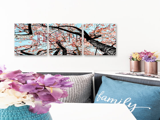 Panoramic Wall Art - Cherry Blossom Tree