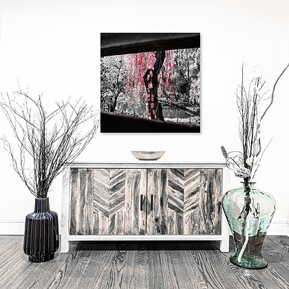 Square Wall Art - Pink Cherry Willow