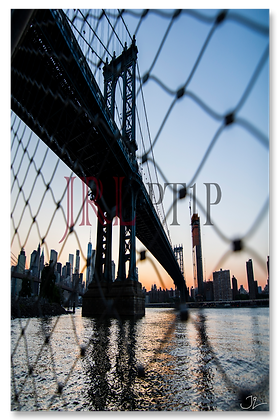 Portrait Wall Art - Manhattan Bridge Sunset