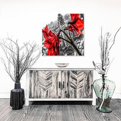 Square Wall Art - Concrete Lilies'