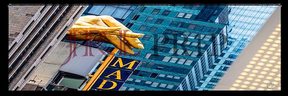 Panoramic Wall Art - Gold Finger