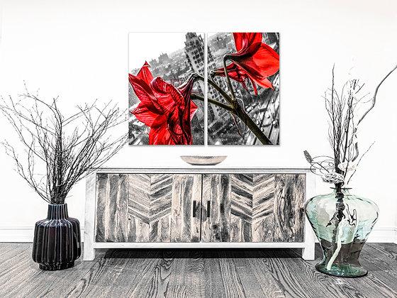 Landscape Wall Art - Concrete Lilies'