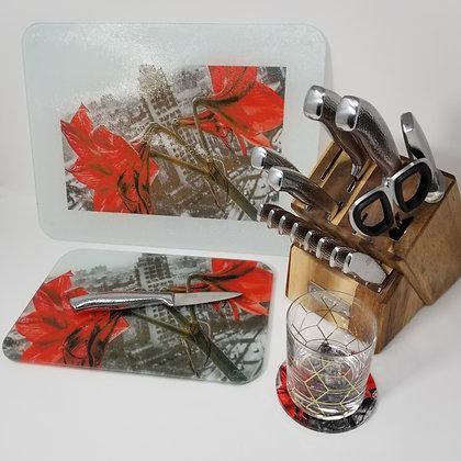 Kitchen/Dining Tabletop  Set - Concrete Lilies