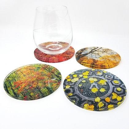 Variety Acrylic Coaster Set - Fall for Autumn