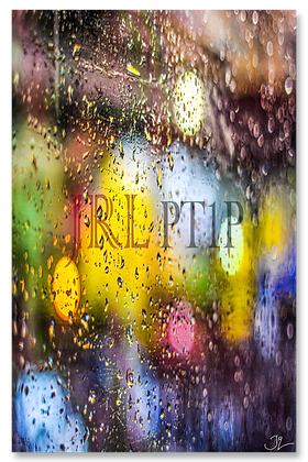 Portrait Wall Art - Rain Has Color In The Dark