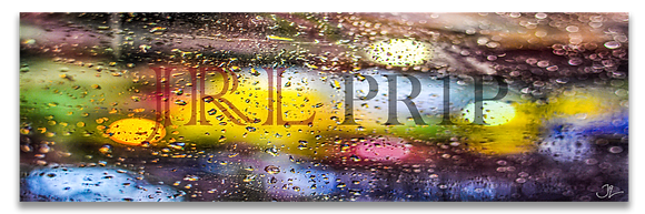 Panoramic Wall Art - Lanscape Wall Art - Rain Has Color In The Dark