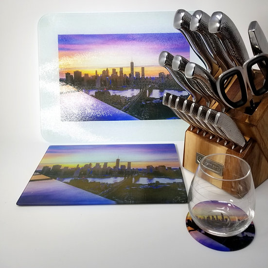 Kitchen/Dining Tabletop  Set - NYC Skyline IV