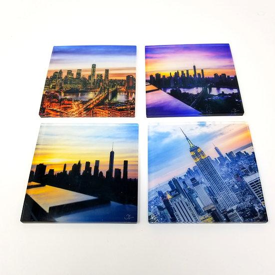 Variety Acrylic Coaster Set - NYC Skyline
