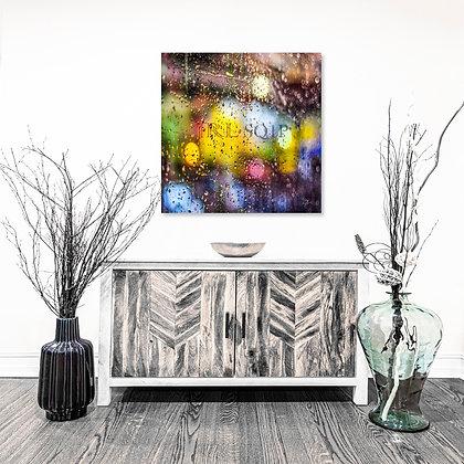 Square Wall Art - Rain Has Color In The Dark
