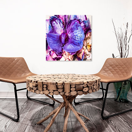 Square Wall Art - Orchid On Fire