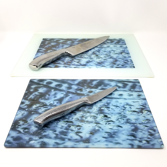 Glass Cutting Board/Serving Platters - Mediterranean