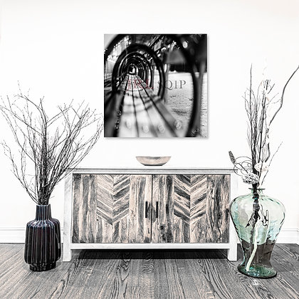 Square Wall Art - Park Bench