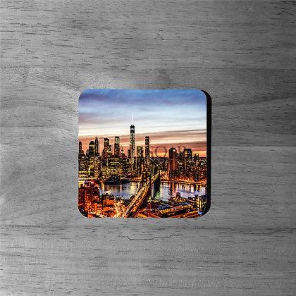 NYC Downtown Skyline II - Cork Coasters