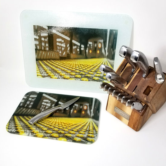 Glass Cutting Board/Serving Platters - Late