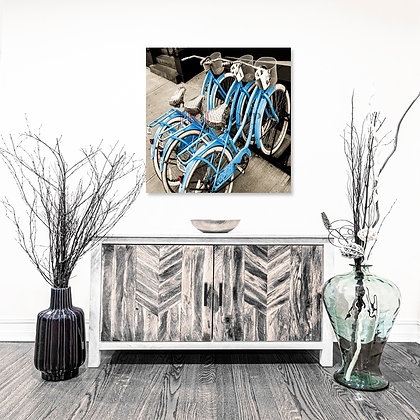 Square Wall Art - Vintage Bicycles