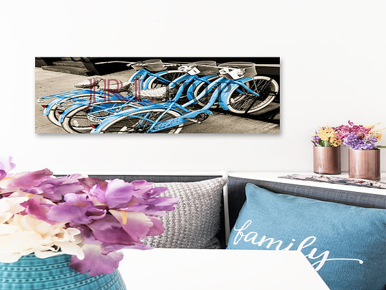 Panoramic Wall Art - Vintage Bicycles
