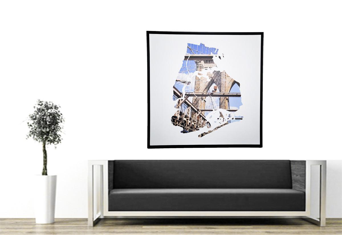 Brooklyn Bridge - Floating Canvas - Livi