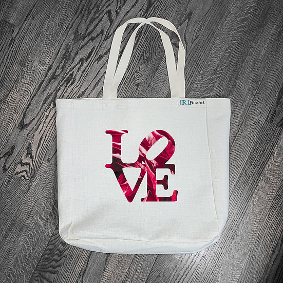 Tote Bag Designs - Concrete Rose LOVE