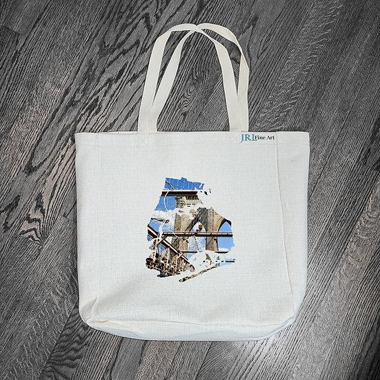 Tote Bag Designs - Face of NYC | Brooklyn Bridge