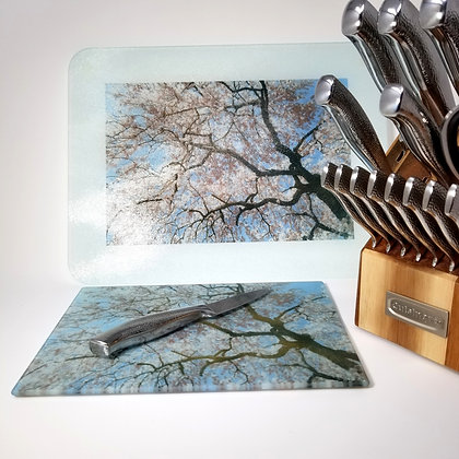 Glass Cutting Board/Serving Platters - Spring Lightening