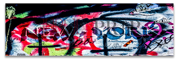 Panoramic Wall Art - Graffiti City