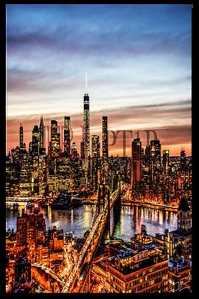 Portrait Wall Art - NYC Downtown Skyline II