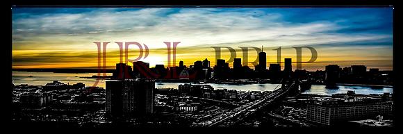Panoramic Wall Art - NYC Downtown Skyline III