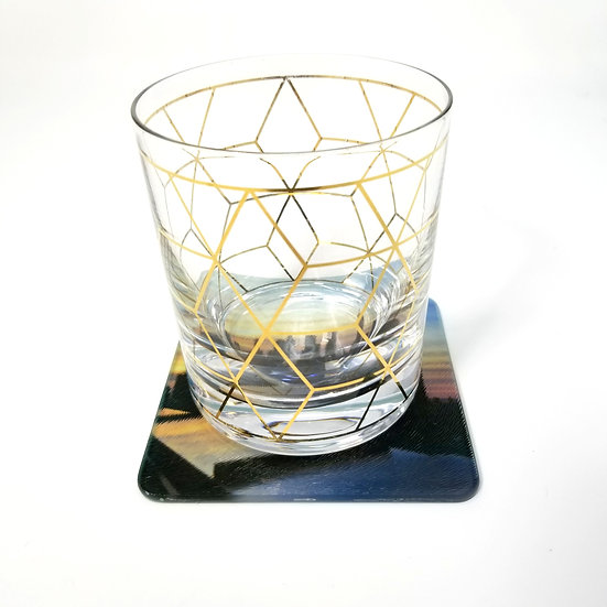 Glass Coaster - NYC Skyline I