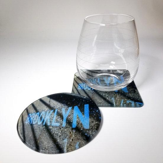 Glass Coaster - Brooklyn