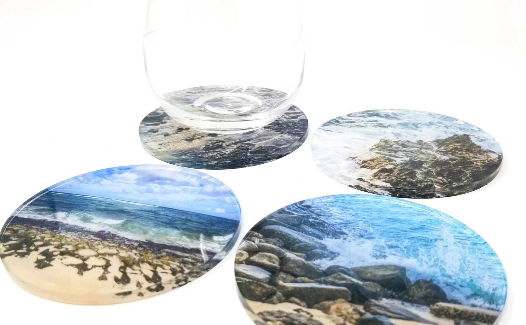 The Beach - Acrylic Coasters