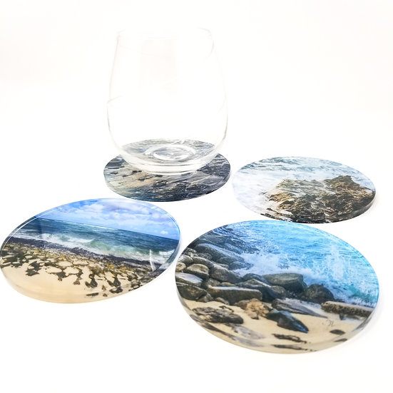 Variety Acrylic Coaster Set - The Beach