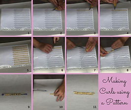 Deco Magic Making Curls using a Pattern