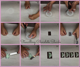 Deco Magic Stencilling Chocolate Shards