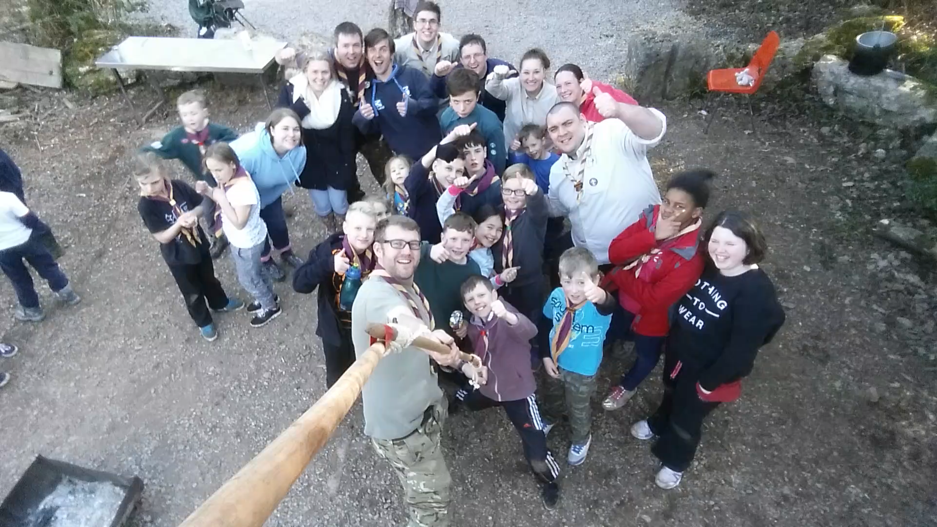 Scout selfie stick