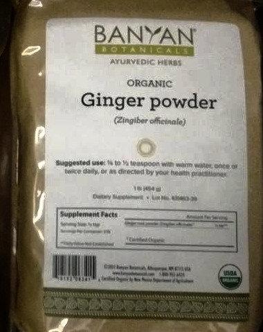 1 pound of Organic Ginger Powder
