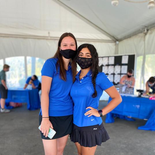 NHS Girls Golf, Alyssa Davidson (2020) and Maddi Roque (2021)