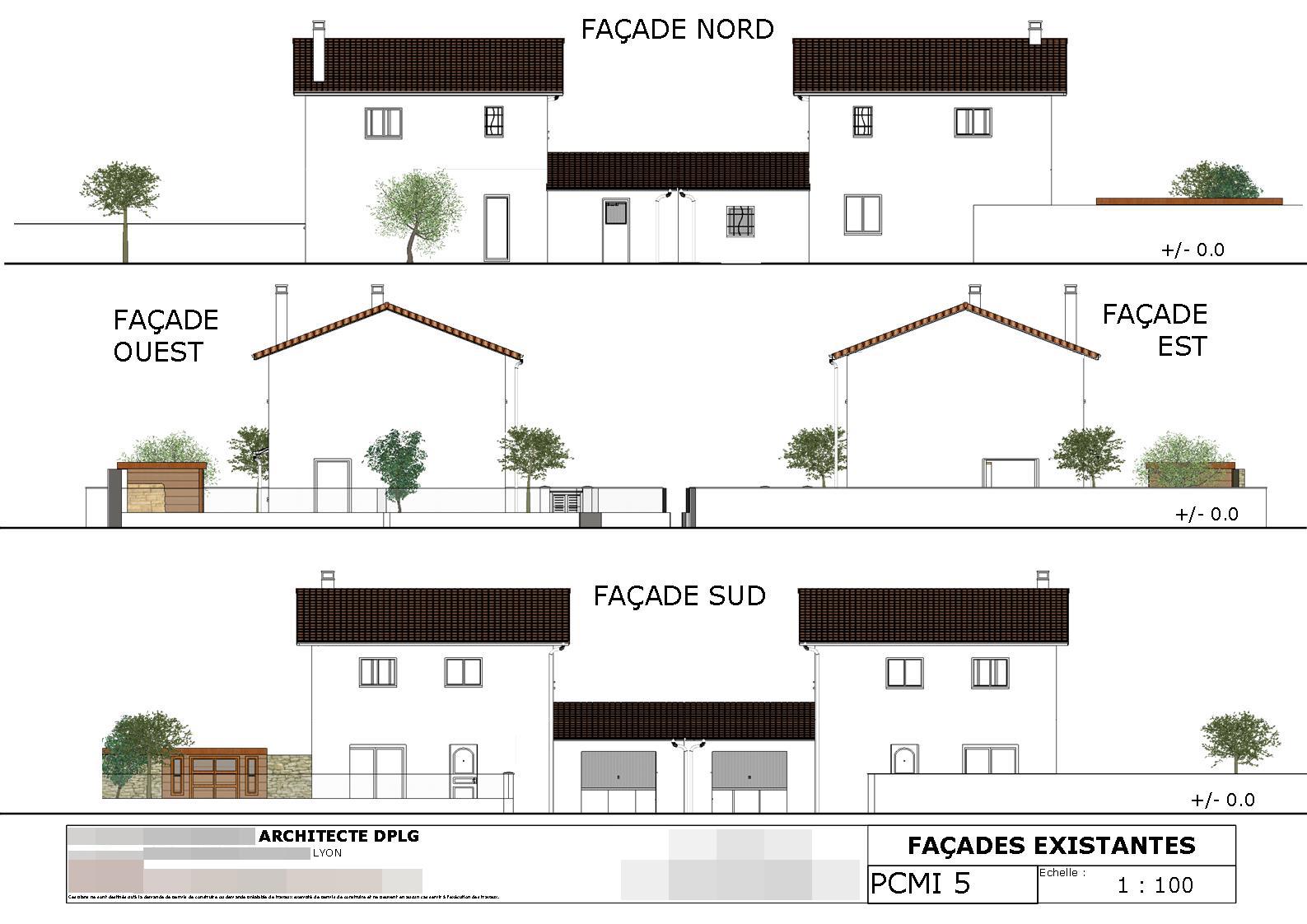 Permis De Construire Plan B Pc Lyon 69 69400 42 71