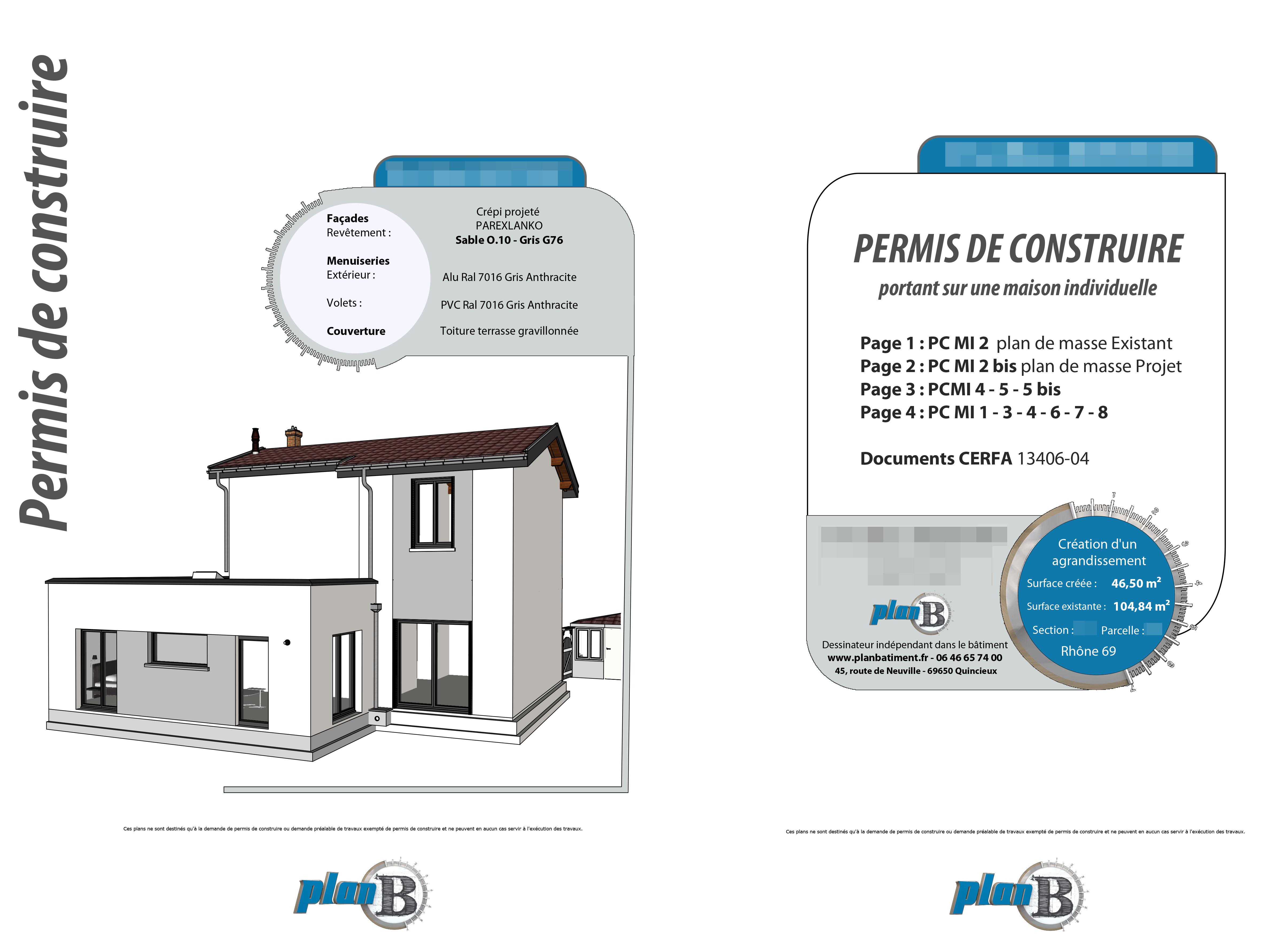 Page 1 dossier permis de construire