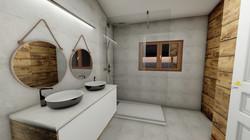 rendu 3D interieur salle de bain