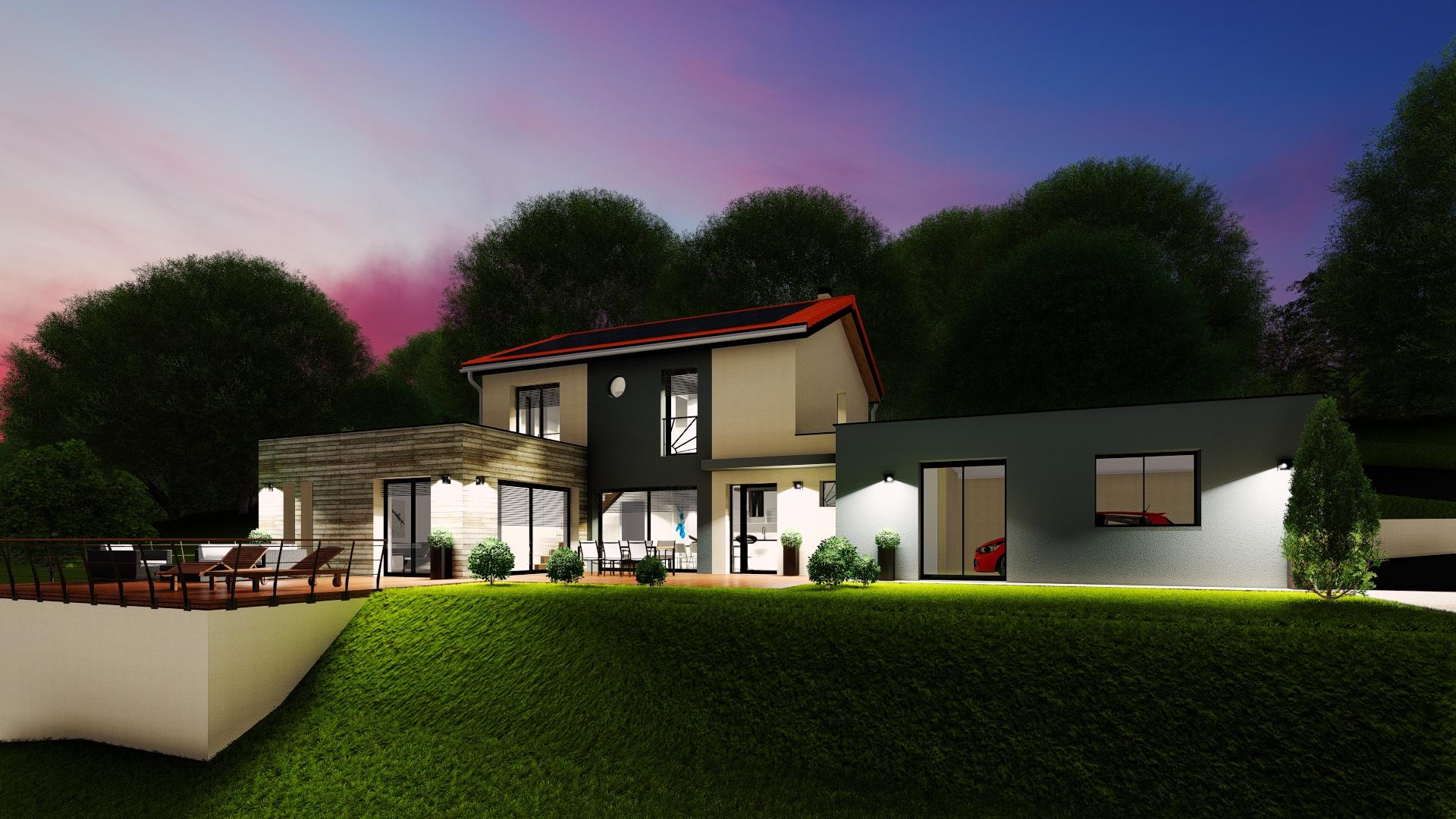 Construction d'une maison moderne