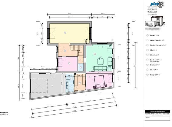 permis de construire plan b pc lyon 69 69400 42 71. Black Bedroom Furniture Sets. Home Design Ideas