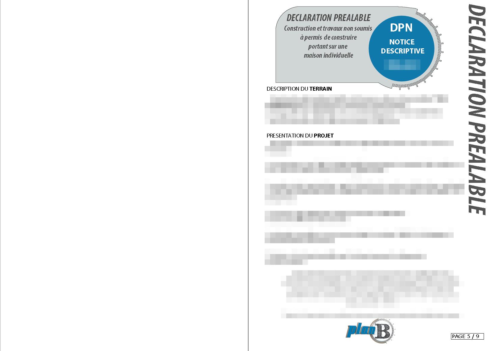 Demande préalable de travaux DPN